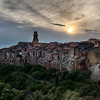 Pitigliano at Sunset