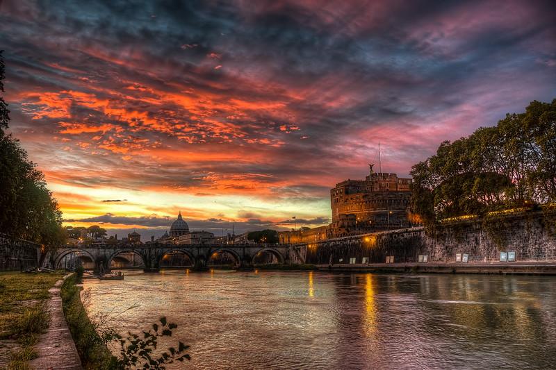 Tiber Sunset