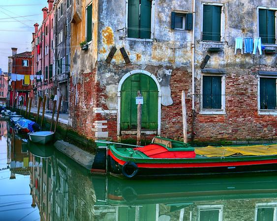 Colorful Street Corner in Venice