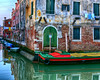Colorful Street Corner in Venice