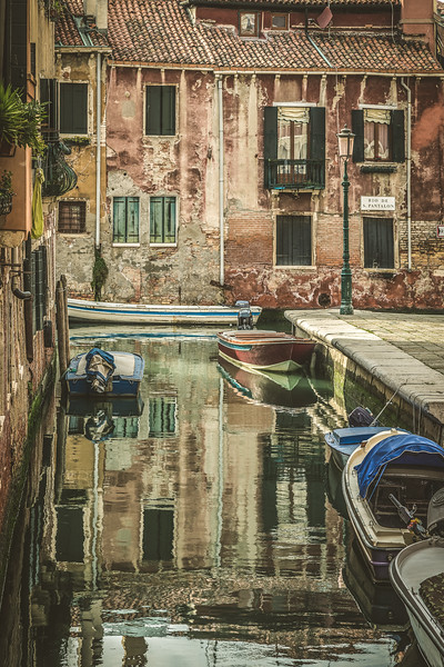 The canals in Venice, Italy.