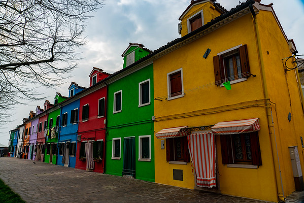 Burano, Italy Island painted houses