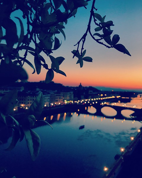 Florence's Arno River at Sunset. 2017.
