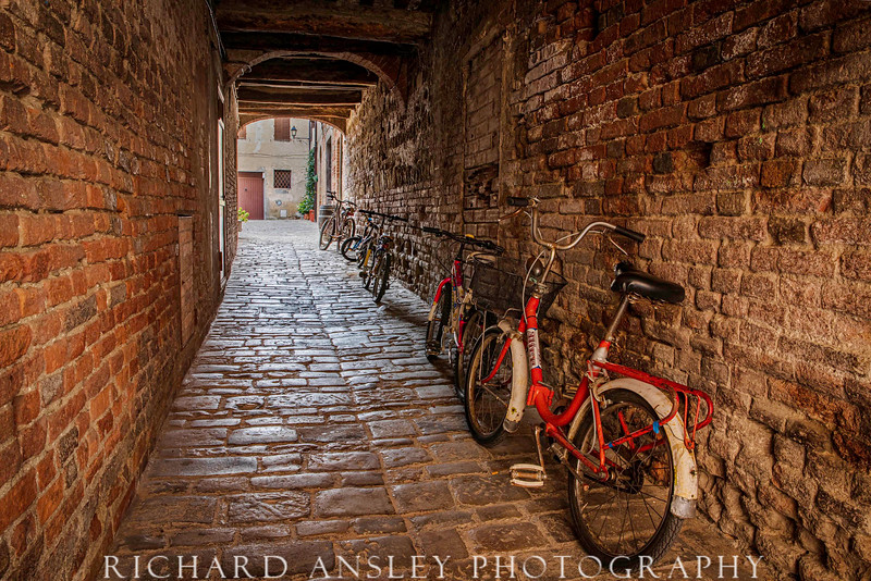 Tuscan Village-Bicycle Alley, Italy