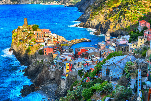 Gorgeous view of Cinque Terre