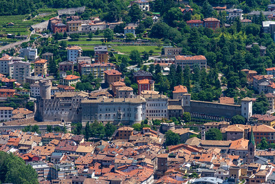 Aerial view of Buonconsiglio Castle from Sardagna