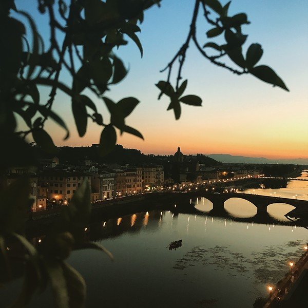 Overlooking the Arno River in Florence. 2017.