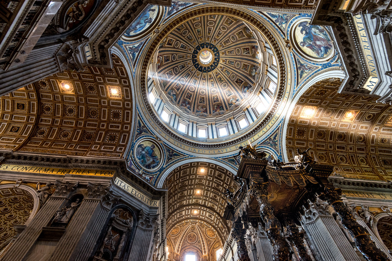 Michealngelo's Dome inside St. Peter's Basilica, Vatican City.