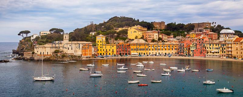 Baia del Silenzio panoramic (the Bay of Silence), Sestri Levante, Liguria
