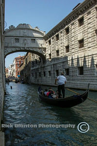 """ View of the Bridge of Sighs """