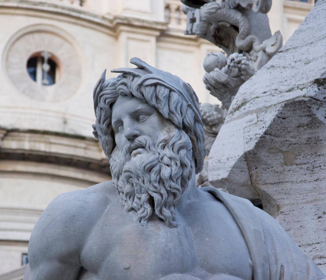 Bernini Sculpture in the Piazza Navona in Rome