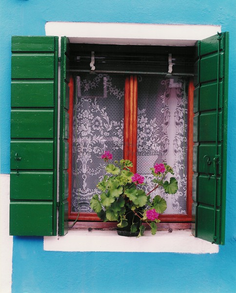 """Blue Burano Window"""