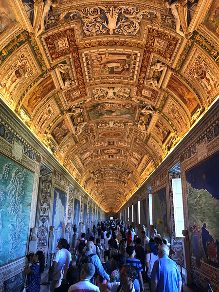 The Gallery of Maps at the Vatican Museum. 2017.