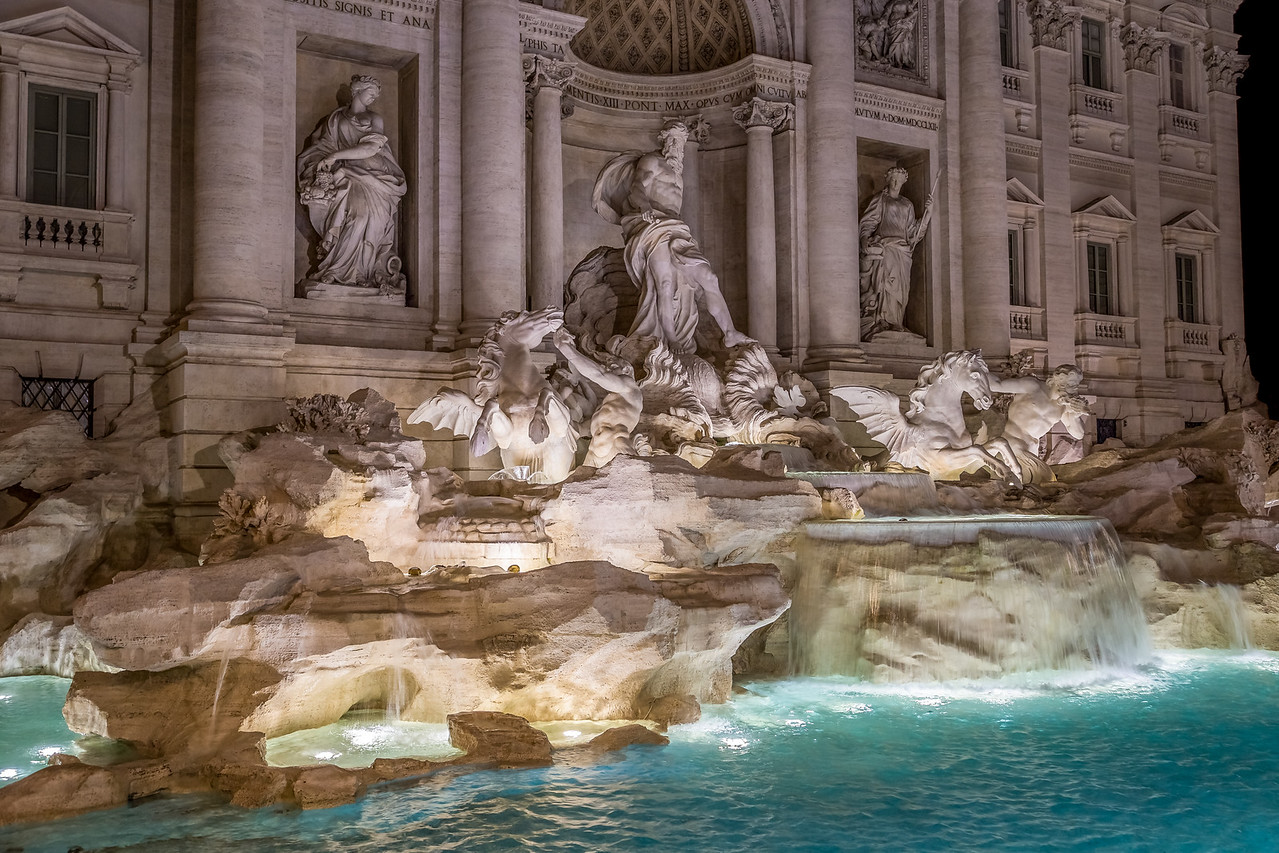 Trevi Fountain in Rome, Italy.