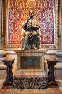 St. Peter's Statue in the Vatican, Rome