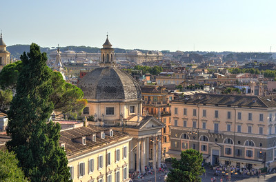 Neighborhood rooftops of Northern Rome - Rome Italy