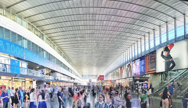 Rome's Termini Station. 2017.