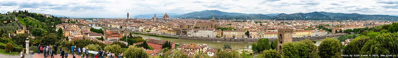 The view of Florence from the Piazzale Michelangelo