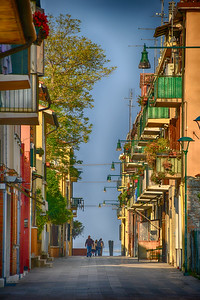 Life in Venice - Colorful alley way