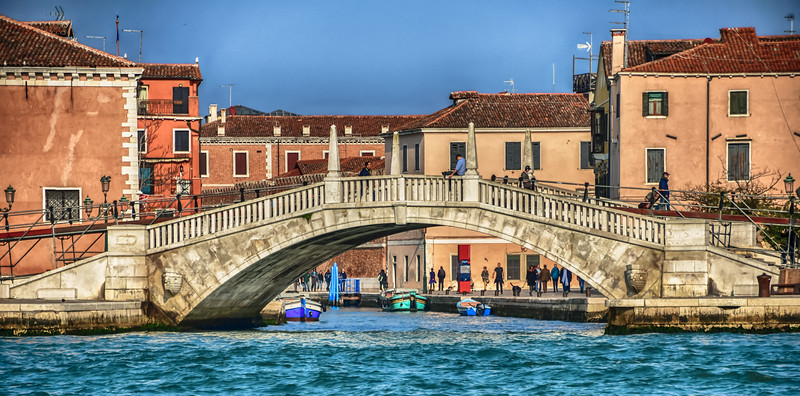 Venice - over and under the bridge