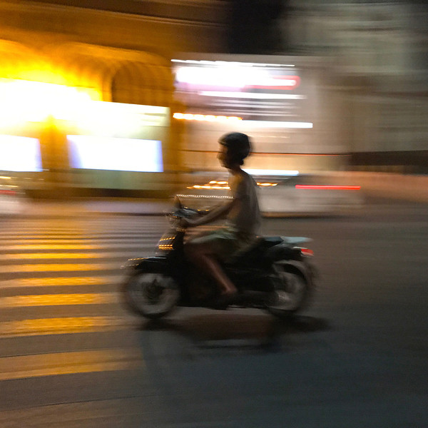 Man on Motorbike in Rome. 2017.