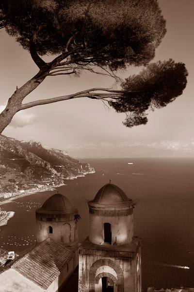 View from Ravello - sepia