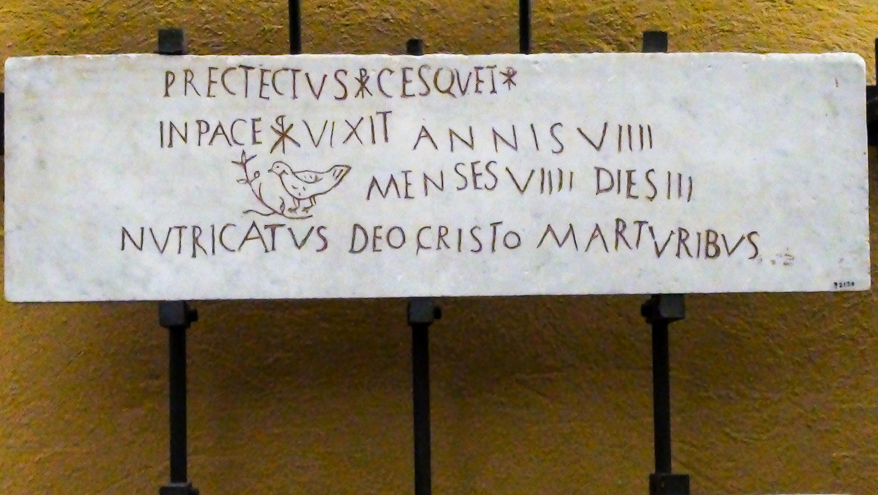 Catacomb inscription