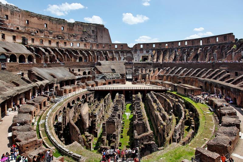 Inside the Roman Colosseum
