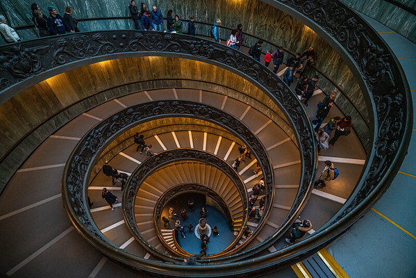 Top of the Bramante Staircase, Vatican