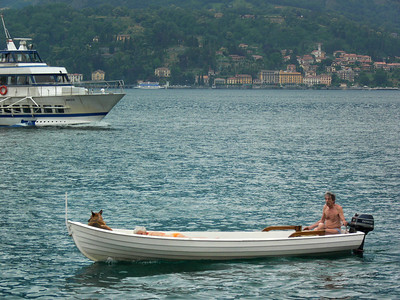 Kemmerer__My dog, my gal and I on Lake Como