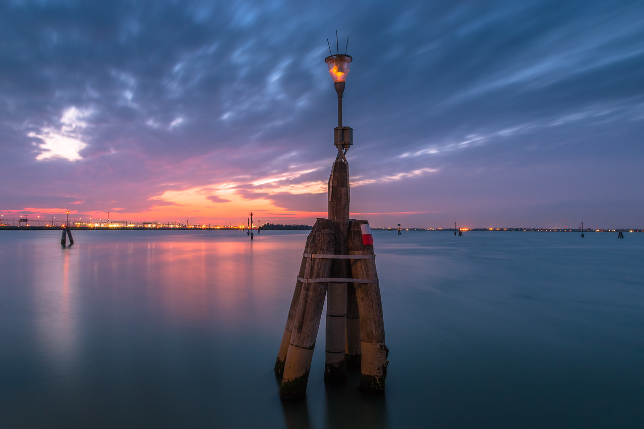 Its estimated that there are 60,000-90,000 pillars such as this one throughout the waterways of Venice. The pillars provide information to boaters about the water depth, the changing of the tides and much more.