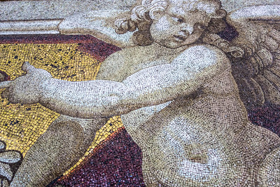 mosaic, inside St Peter's Basilica, Vatican City, Rome, IT