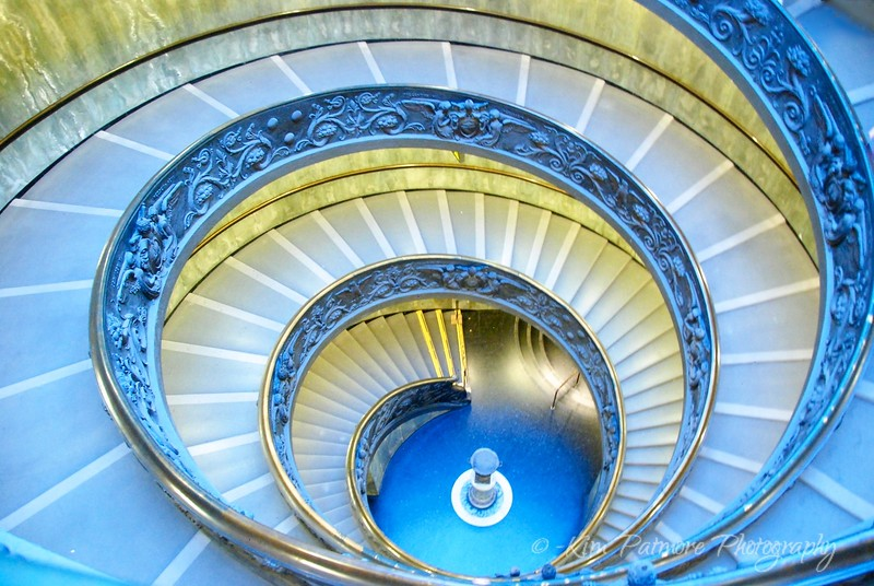 Staircase leaving Sistine Chapel in the Vatican Museum