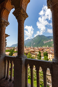 View of Trento, Italy from the Venetian Loggia at Buonconsiglio Castle