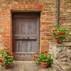 Door and Geraniums, Lucignano d'Asso, Tuscany