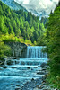 Waterfall in Norther Italy