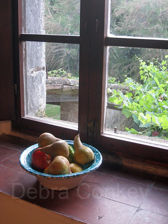 Bowl of Fruit, Tuscany Farmhouse, Italy