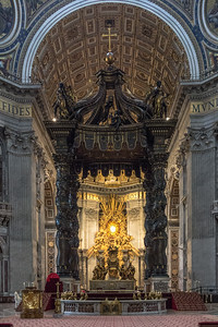 The  Alter inside St. Peter's Basilica, Vatican City, Rome, IT