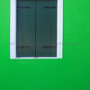 Closed Green Shutters, Burano, Veneto