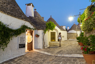 Trulli District at Nightfall, Alberobello