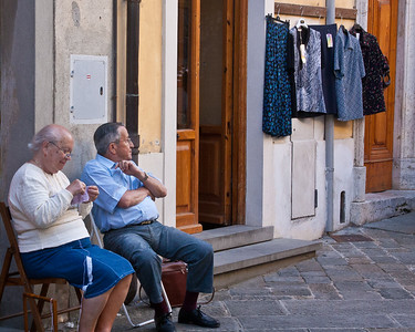 Quiet street in Italy
