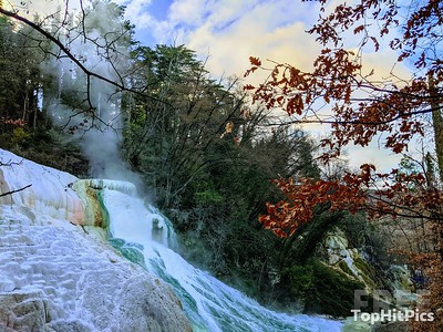 The Stunning Hot Springs in Bagni San Filippo in Tuscany, Italy