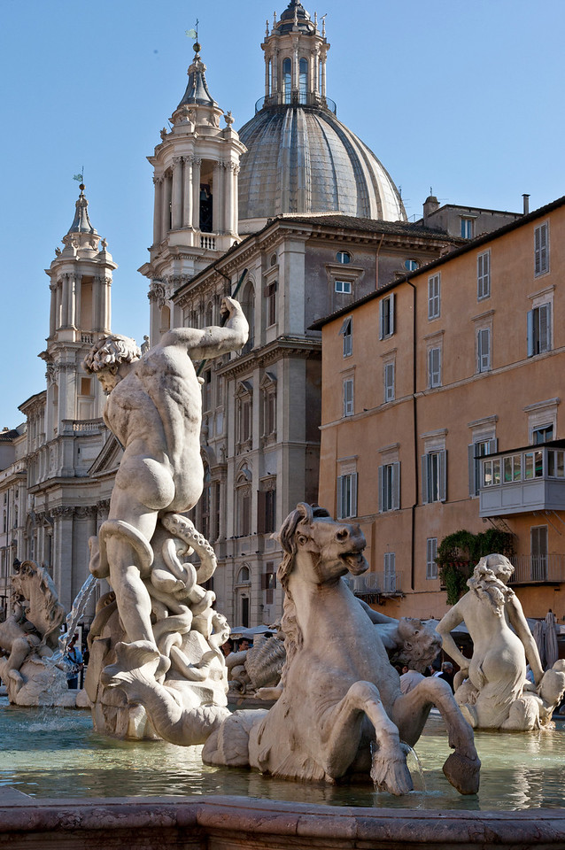 Bernini Fountain in the Piazza Navona