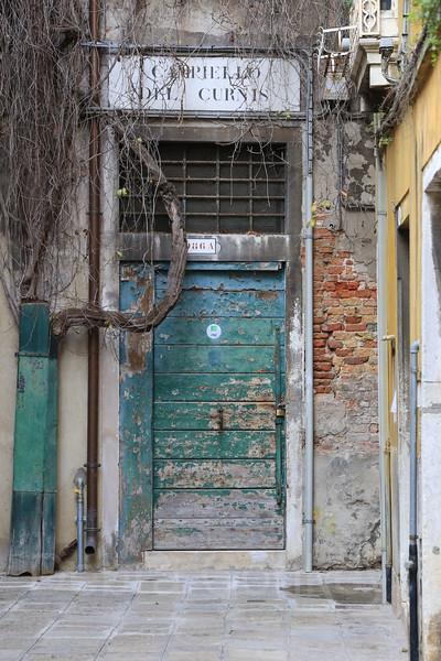 Turquoise Door, Campiello del Curnis, Venice, Italy