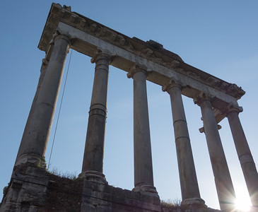 Temple of Saturn, Forum, Rome, IT