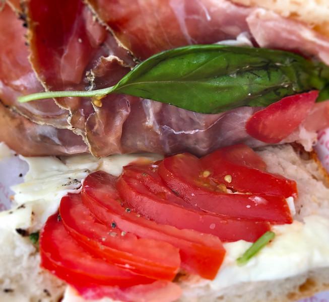 Prosciutto, Tomato, Mozzarella, Basil. 2017.