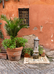 Flowerpot and water pump, Rome