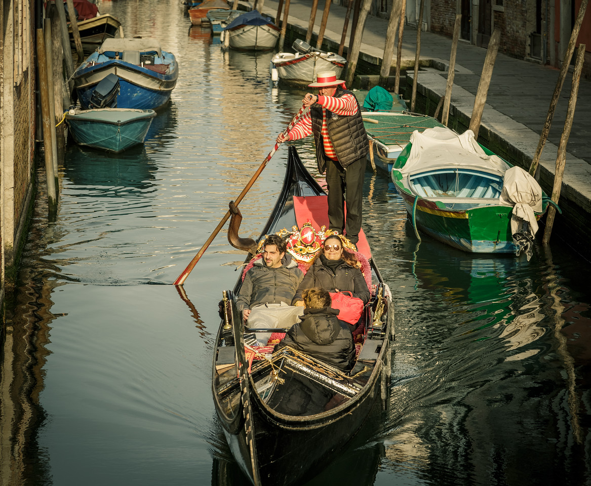 Gondola are a good way to see Venice from a different perspective.  For centuries the gondola was the main form of transportation in Venice.