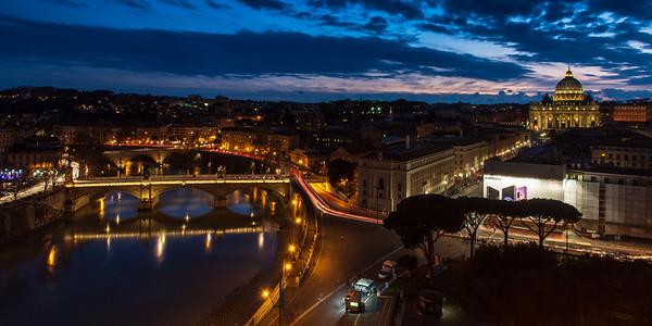 River Tiber sunset