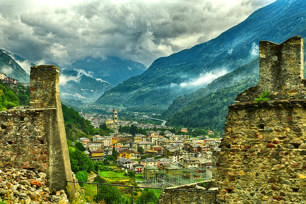 View from a castle in Italy